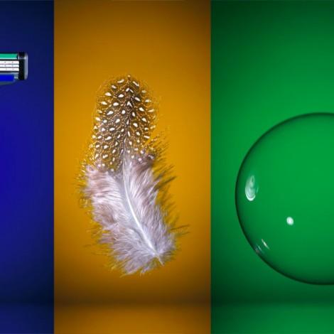 Razor, Feather,Bubble
